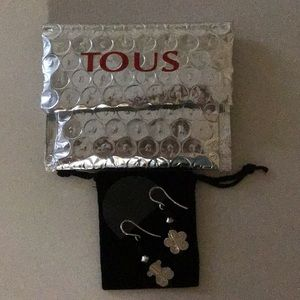 Tous Earrings - Bear and Flower, with Tous pouch